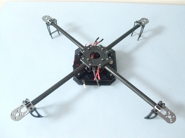 Quadcopter Batteries Mounted