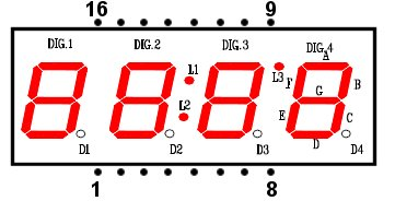 4 digit 7 segment display wiring