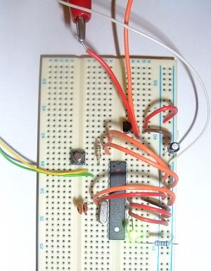 Arduino Hardcore components on a breadboard