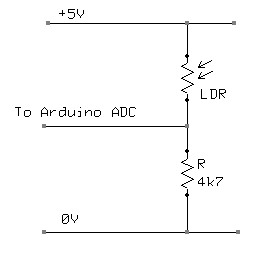 Arduino Nightlight circuit diagram
