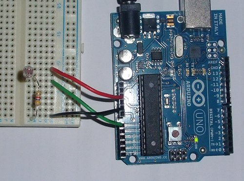 Arduino Tutorial8 Nightlight on current limiting resistor for led