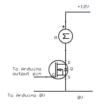 Power Mosfet connection to Arduino
