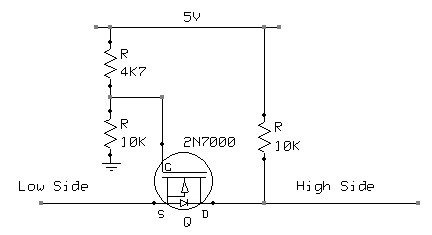 mosfet level converter no 3.3v