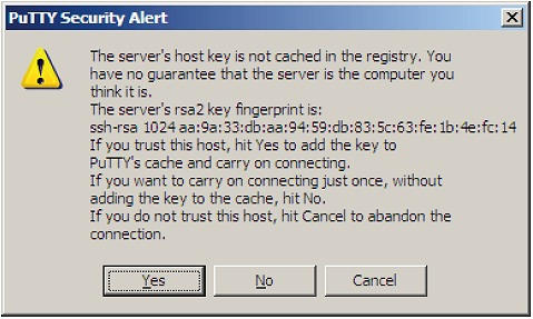 Putty command line options for ssh into raspberry